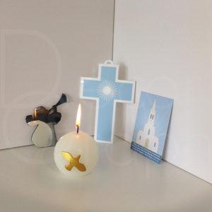 croix rayons bleu
