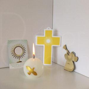 croix rayons jaune