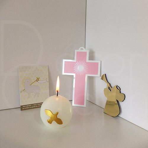 croix rayon rose