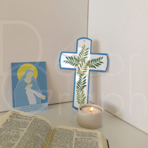croix hosanna bleue