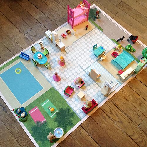 tapis de jeu lino la maison decorgraph. Black Bedroom Furniture Sets. Home Design Ideas