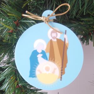 déco de Noël Nativité azur