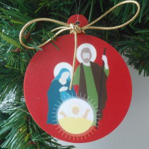 déco de Noël Nativité rouge