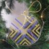 boule de Noël ronde, plate en plexiglas, transparente, originale