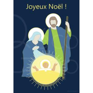 carte de voeux joyeux noël nuit
