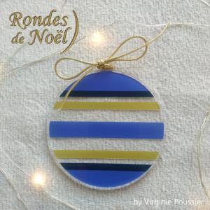 déco de Noël, Ronde de Noël en plexiglas, boule de Noël moderne et originale