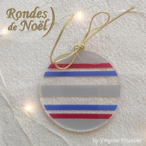 boule de Noël plexiglas, transparente, rondes, originale et moderne
