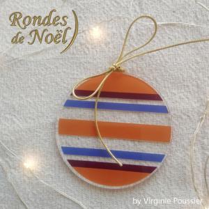 décorations de sapin rondes colorées, boules de Noël