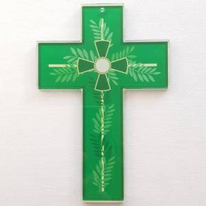 croix verte temps ordinaire, couleur liturgique