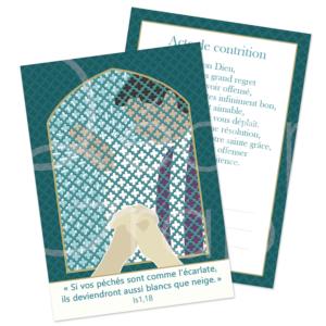 carte de prière acte de contrition