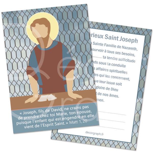 carte de prière Saint Joseph